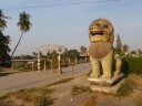 Lion guarding the Stung Sangker