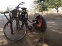 Nice man with puncture repair kit