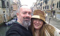 Gill and I in Venice