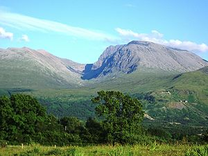 Ben Nevis, in Scotland, is the highest point i...